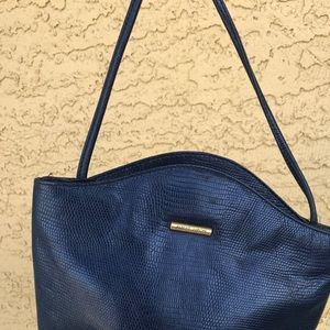 Navy Blue Albert Nipon Cross body bag.