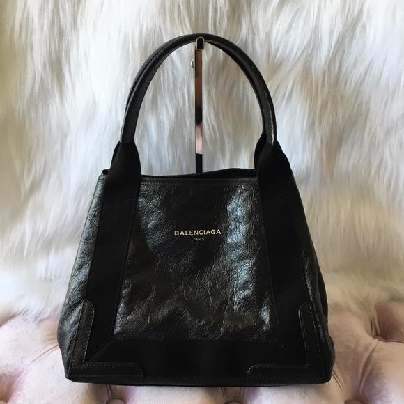 1a9fd9fe235 Balenciaga Bags | Navy Cabas Leather Tote | Poshmark