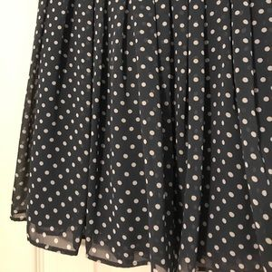 d35bef4f4e Uniqlo Skirts | Blue And White Polka Dot Mini Skirt | Poshmark