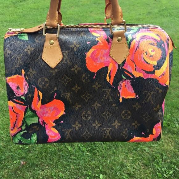 86e424611e88 Louis Vuitton Handbags - Louis Vuittton Stephen Sprouse Roses Speedy 30