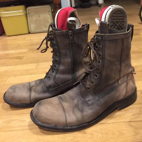 John Varvatos Shoes   Lace Up Zipper