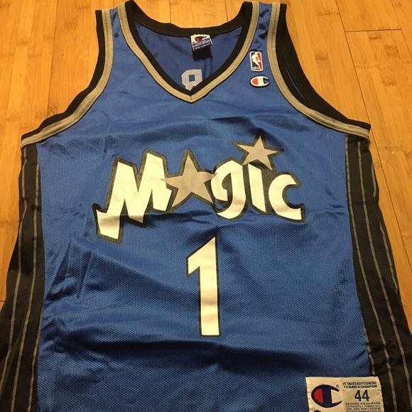 super popular f14fa 5da2a Champion NBA Tracy Mcgrady Orlando Magic Jersey 44