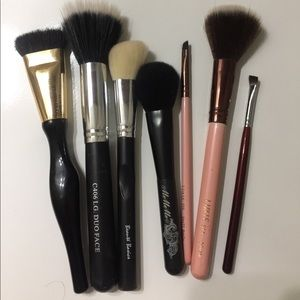 Seven Assorted Makeup Brushes