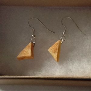 Jewelry - Whimsical Grilled Cheese Earrings - still in box