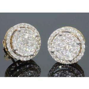 Jewelry - 1.35 carat 10k yellow gold diamond earrings