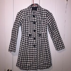 Other - Black and white Girls Dress Coat