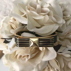 Have Faith Bangle Bracelet and Gold Tone Necklace