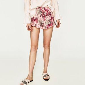 d7dfc396 Zara Shorts - 💕zara high waisted flamingo printed shorts