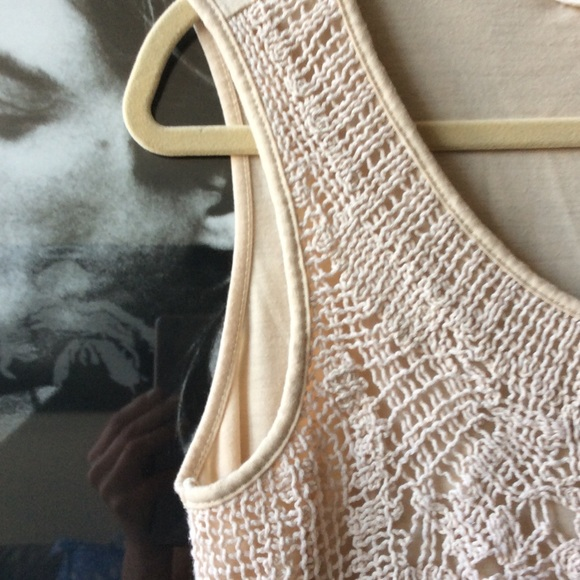 Adiva Tops - Gorgeous Adiva Crochet Front Tank