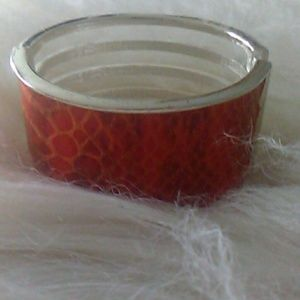 Leather snakeskin bracelet