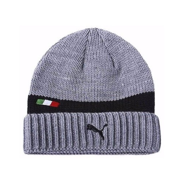 2bf1315d08bb9 PUMA Ferrari Cute Gray Knit Beanie Hat