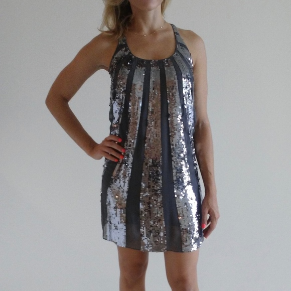 9e1ab73c808a Juicy Couture Dresses   Skirts - Silver Sequin Juicy Couture Dress