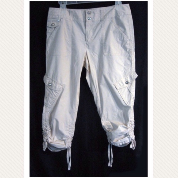 001c471214e INC International Concepts Pants - INC Beach Cargo Capri Pants with Bling 14