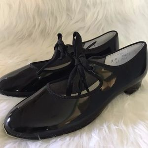 Other - Girls Black Patent Leather tap dance shoes