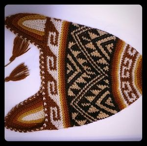 Other - Baby Geometric Mexico Indigenous knitted Beanie