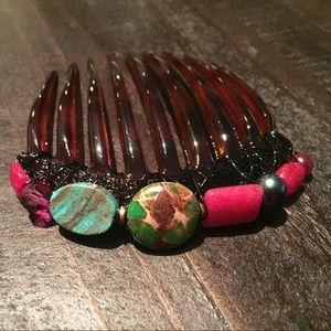 Colette Malouf semi precious stones 💎 hair comb