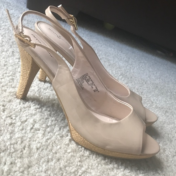 589f604141 Jaclyn Smith Shoes | Nwot Nude Slingback Heels Nwot 65 | Poshmark