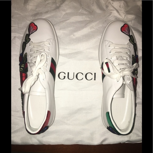 e339d8b574c Gucci Shoes - GUCCI Ace embroidered sneaker FITS sz 10-10.5