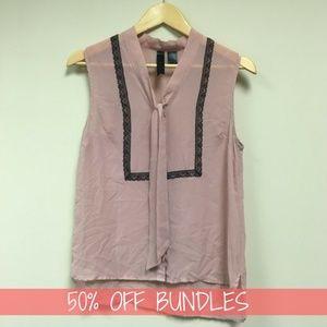 Tops - *50% OFF BUNDLES* Olive Purple Semi Sheer Blouse