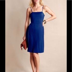 Royal blue pleated dress by Lands End Canvas
