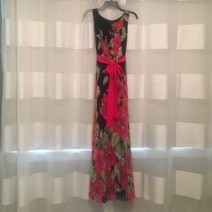 NEW Eliza J Full Length Dress with Tie Detail