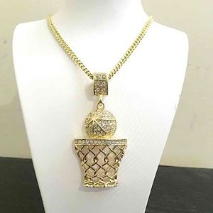 Other - 14k Gold Ice Out Basketball Hip Hop Set
