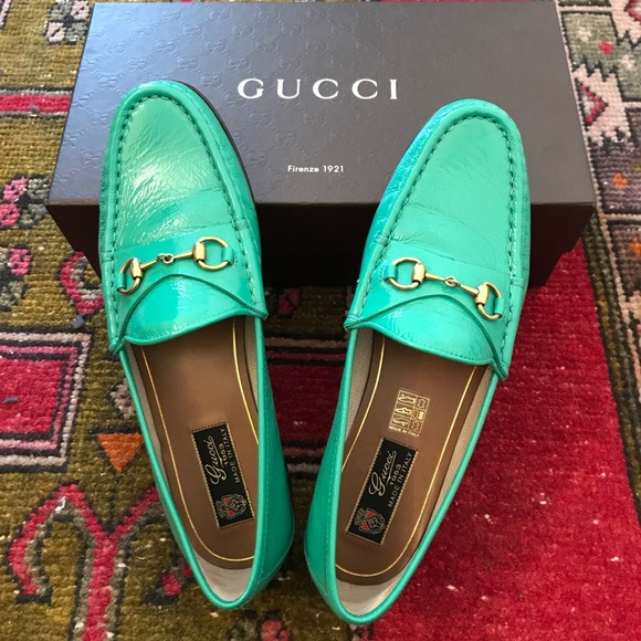 953 Womens Patent Gucci Loafers