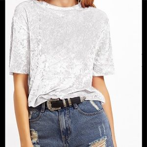 Tops - NWT Crushed velvet tee shirt size M