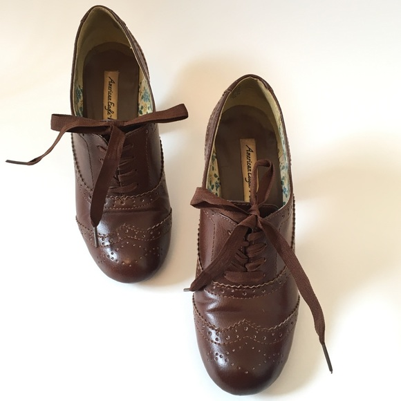 a6aee3d48cb0 American Eagle By Payless Shoes - American Eagle Javelin Jetson Brown  Oxford Heels