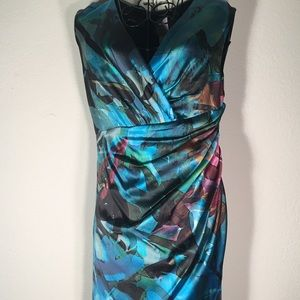 Suzi Chin for Maggy Boutique Blue/Green Dress