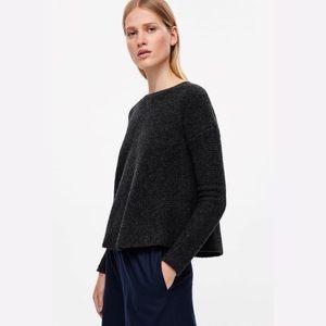 05c6688fa139 COS Sweaters   Wool Flared Knit Back Zip Dark Grey Jumper   Poshmark