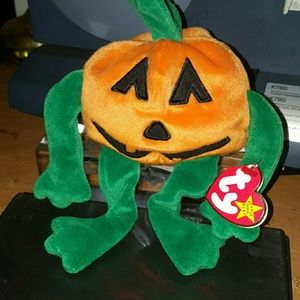 Other - TY BEANIE BABY PUMKIN  pre_owned tags shows wear