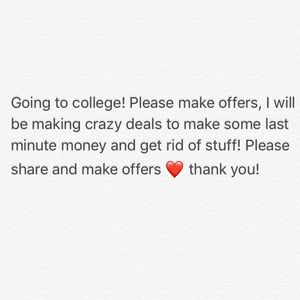 Going to college blow out sale!
