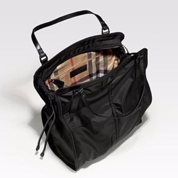 Burberry Handbags - Burberry Nylon Buckleigh Packable Black Tote Bag 3b27ecf37f31f