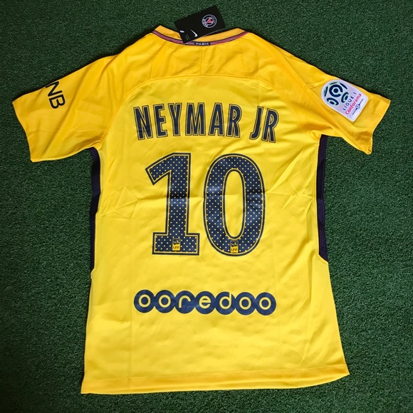 premium selection bcfe0 01202 PSG Neymar Jr Soccer Jersey away 2017/2018 yellow NWT