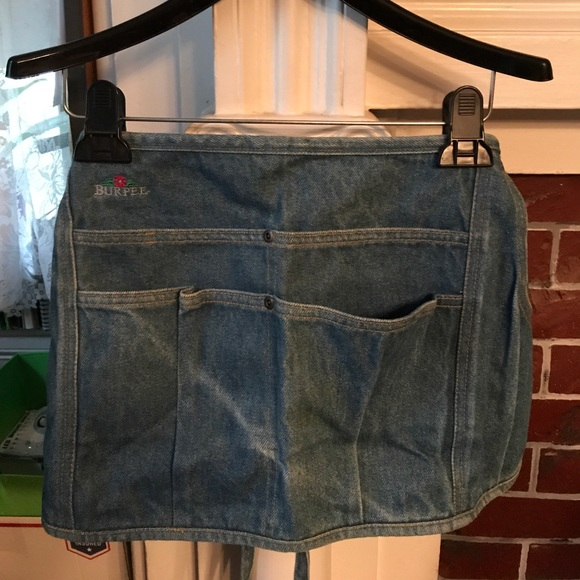 Denim Gardening Apron By Burpee NWT