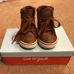 Other - High Top Tan Sneakers