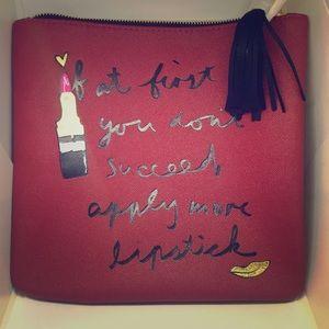 "Handbags - ""Lipstick"" Fringe Clutch"