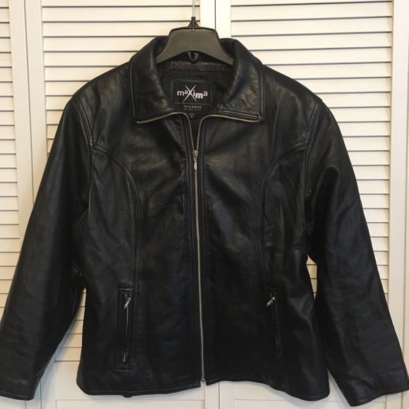 Wilsons maxima Jackets & Blazers - Wilsons Maxima Black Leather Jacket
