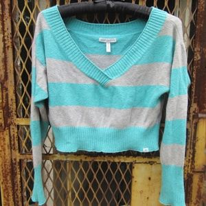 Aeropostale pastel cropped slouchy sweater comfy