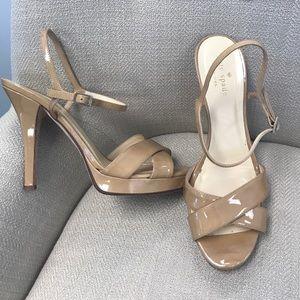 Kate Spade Nude Sandal Heels