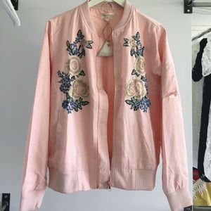 Jackets & Coats - Gorgeous Embroidered Flower 🌺 Jacket in Blush