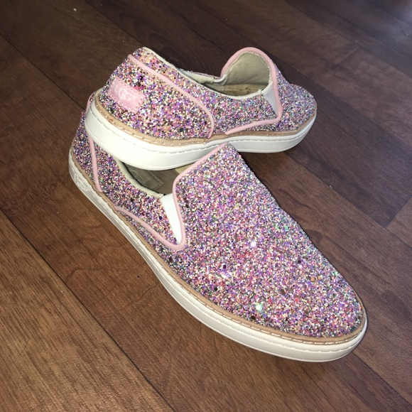 UGG Adley Chunky Glitter Slip On Sneaker