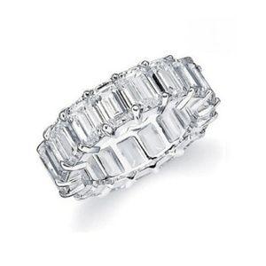 Jewelry - New WGP & CZ Eternity Ring  Size 7.5 & 8!