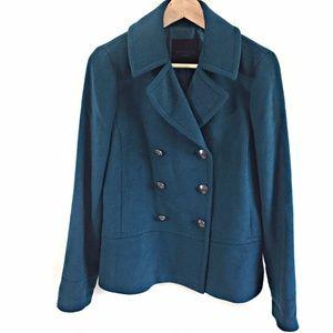 Talbots Pea Coat Teal Green Fits Like L