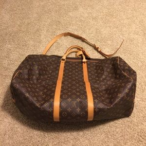Louis Vuitton Keepall 60 with shoulder strap