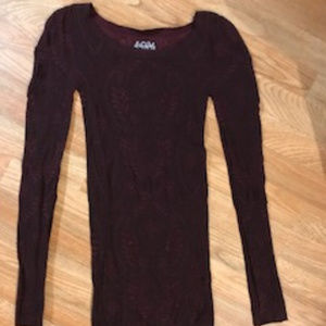 Free People Intimately Long Sleeve Top Size M/L