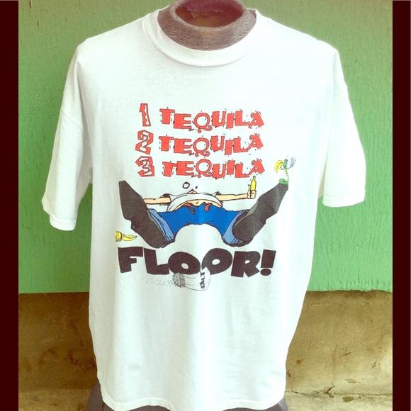 Vintage 1 2 3 Tequila Floor Funny Vtg 80s Oversize