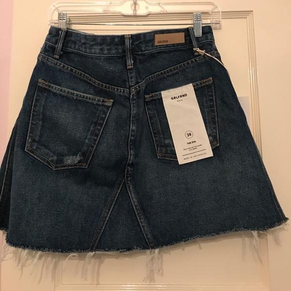 GRLFRND Skirts - Eva by GRLFRND Denim ripped mini skirt