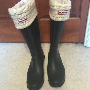 9e674969338f Hunter Shoes - Matte black tall hunter boots- size 10